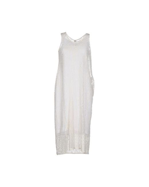 Yohji Yamamoto | Женское Слоновая Костящее Платье До Колена
