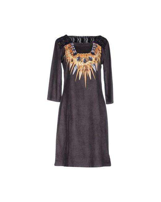 Custo Barcelona   Женское Серое Короткое Платье