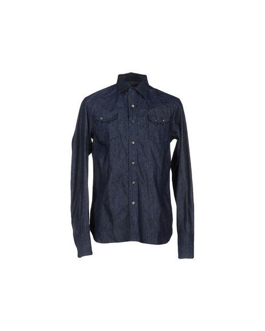 Diesel Black Gold | Мужская Синяя Джинсовая Рубашка