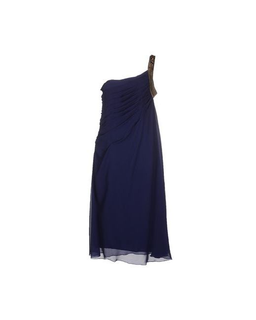 Max Mara | Женское Синее Платье До Колена