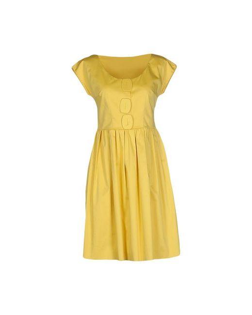 Walter Voulaz | Женское Жёлтое Короткое Платье