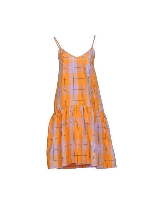 ERIKA CAVALLINI SEMICOUTURE | Женское Оранжевое Платье До Колена