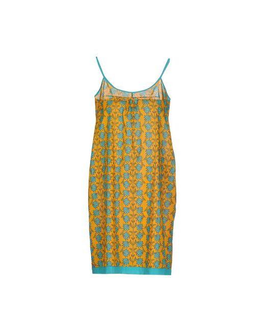 OPALINE   Женское Охра Короткое Платье