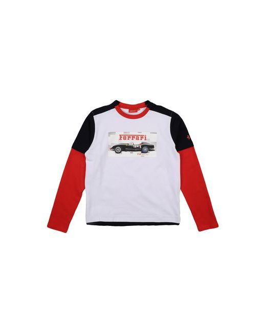 Ferrari | Мужская Белая Футболка