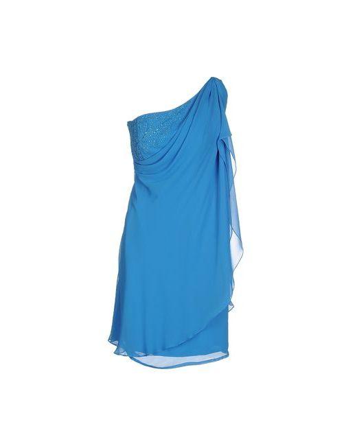 VIVIEN V. LUXURY | Женское Лазурное Короткое Платье