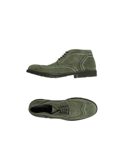 Enrico Fantini | Мужская Синяя Обувь На Шнурках