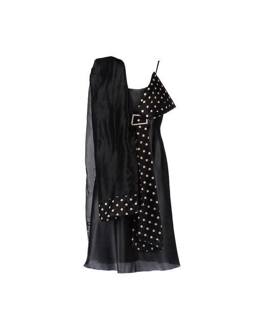 Musani Couture | Женское Чёрное Длинное Платье