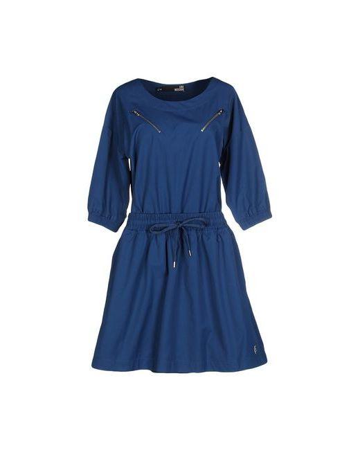 Love Moschino | Женское Синее Короткое Платье