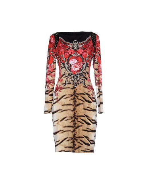 Roberto Cavalli   Женское Красное Короткое Платье