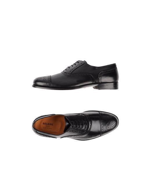 BELSIRE MILANO | Мужская Чёрная Обувь На Шнурках