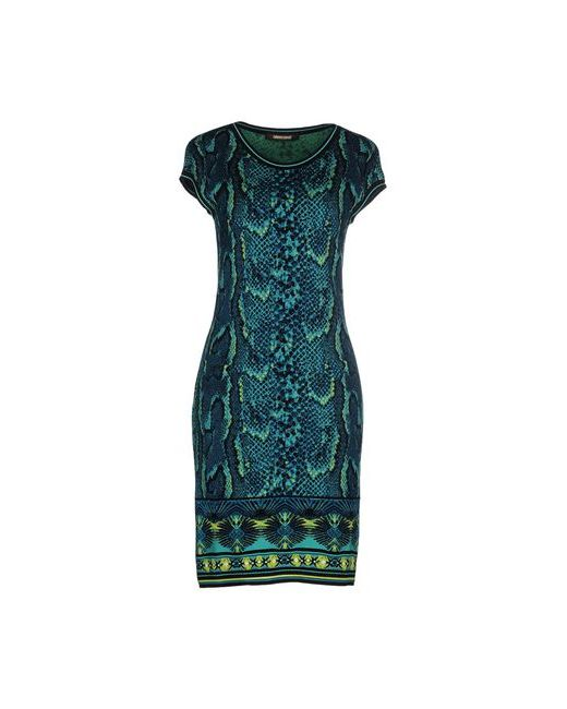 Roberto Cavalli | Женское Бирюзовое Короткое Платье