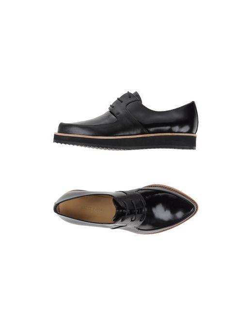 SLACK LONDON | Мужская Чёрная Обувь На Шнурках