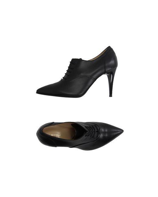 Stele   Мужская Чёрная Обувь На Шнурках