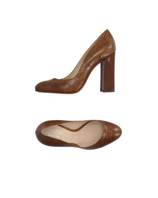 Santoni Rose | Женские Коричневые Туфли