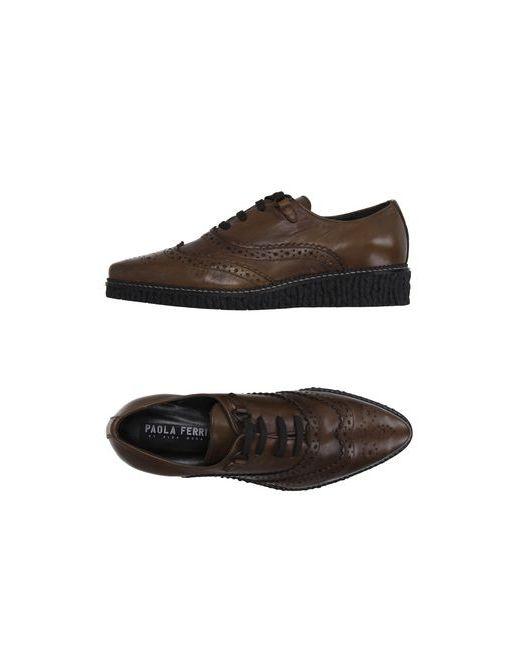 Paola Ferri | Мужская Хаки Обувь На Шнурках