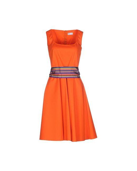 Red Valentino | Женское Оранжевое Платье До Колена