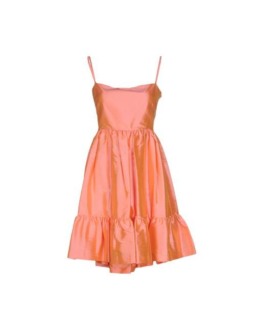 Red Valentino   Женское Оранжевое Короткое Платье