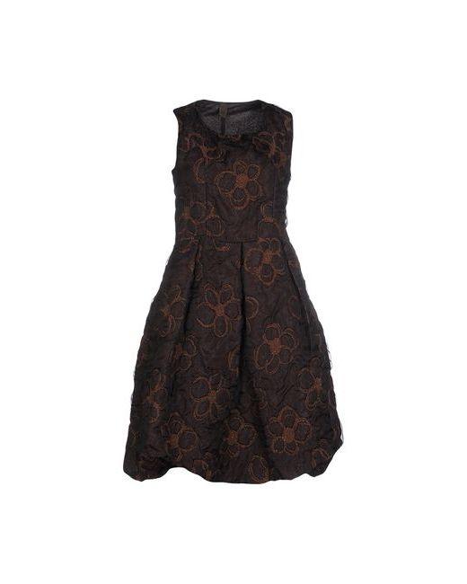 Jijil | Женское Коричневое Короткое Платье