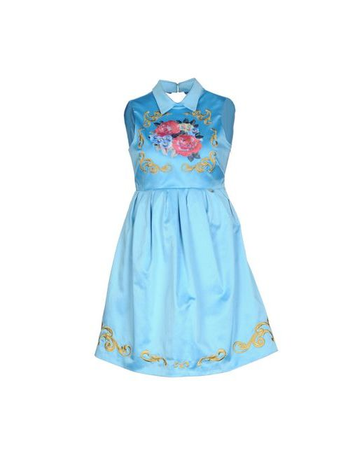 Mangano   Женское Голубое Короткое Платье