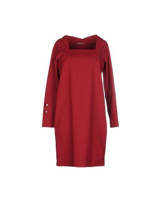 Oblique | Женское Красное Короткое Платье