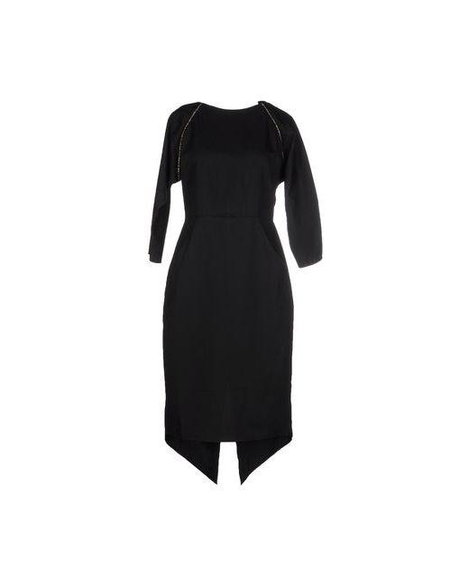 MAIOCCI | Женское Чёрное Платье До Колена