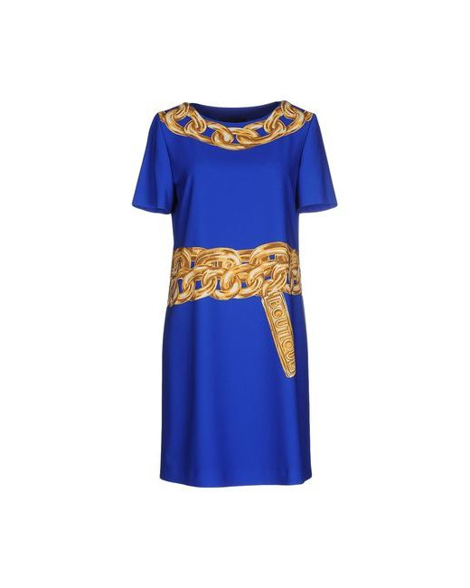 BOUTIQUE MOSCHINO   Женское Синее Короткое Платье