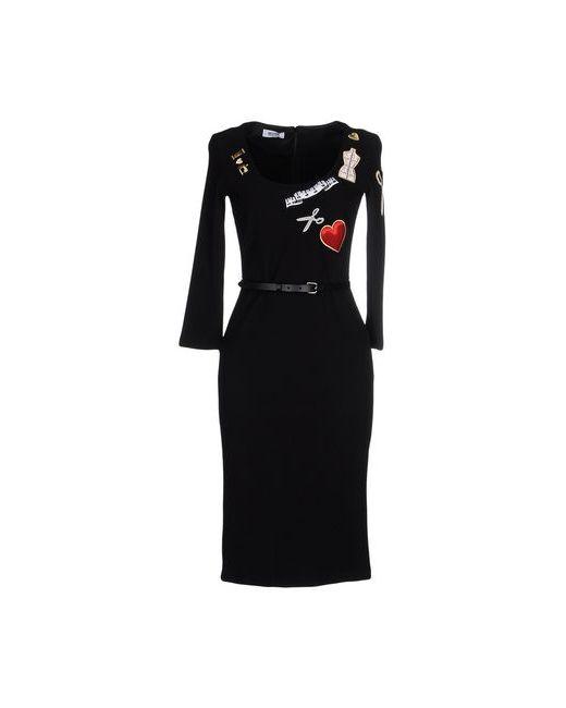 Moschino Cheap and Chic | Женское Чёрное Платье До Колена