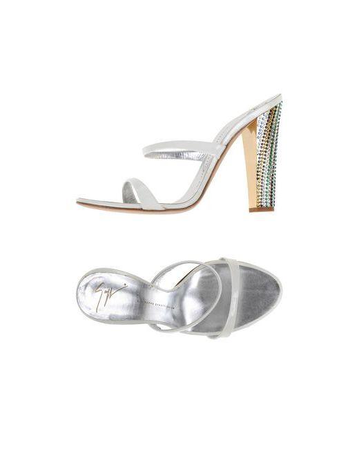 Giuseppe Zanotti Design   Женские Белые Сандалии