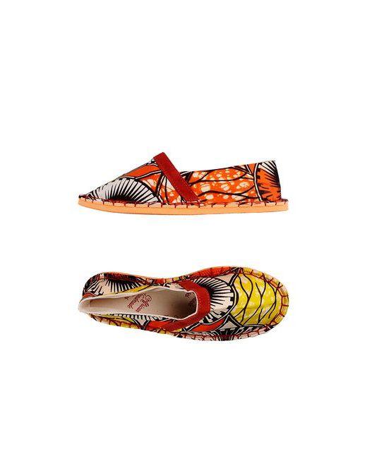 AFRICAN HANDMADE SHOES   Женские Оранжевые Эспадрильи