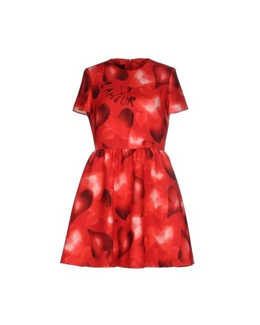 Valentino | Женское Красное Короткое Платье