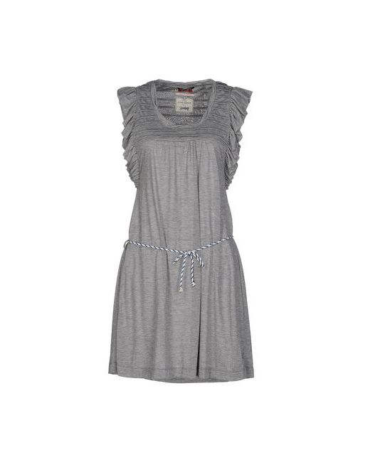 Vintage 55   Женское Серое Короткое Платье