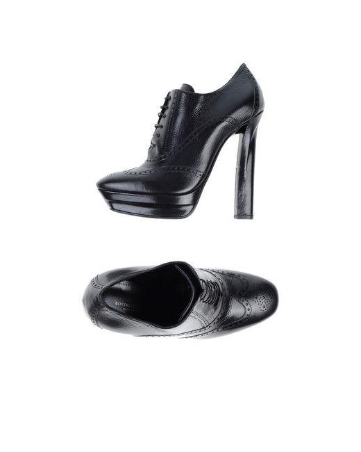 Bottega Veneta | Мужская Чёрная Обувь На Шнурках