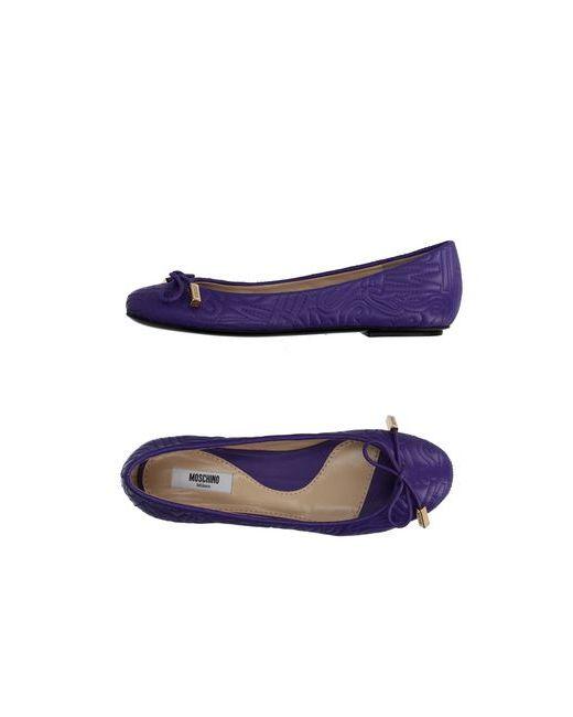 Moschino Couture | Женские Фиолетовые Балетки