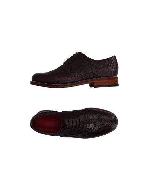 Grenson | Мужская Баклажанная Обувь На Шнурках