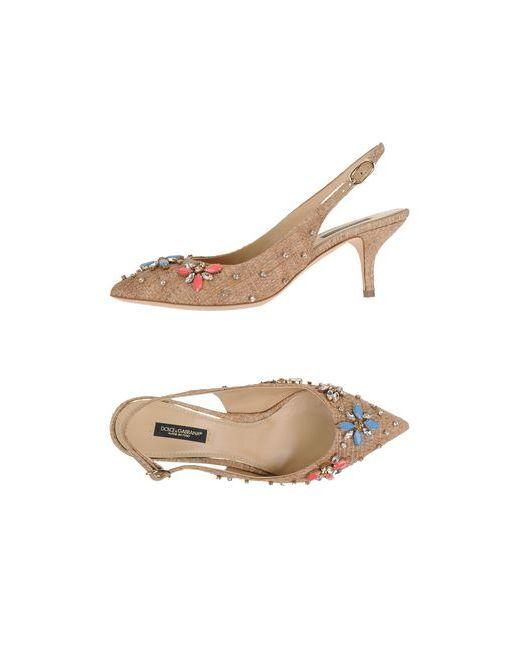 Dolce & Gabbana   Женские Бежевые Туфли