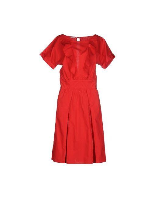Miu Miu | Женское Красное Платье До Колена
