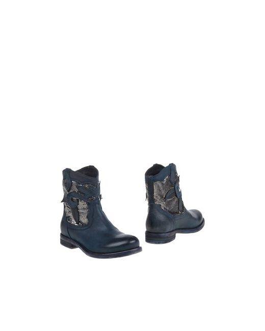 Fabrica Morichetti | Женские Синие Полусапоги И Высокие Ботинки