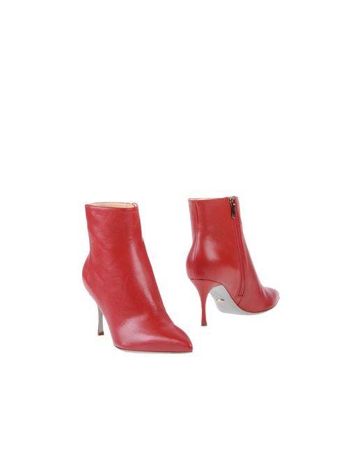 Sergio Rossi | Женские Красные Полусапоги И Высокие Ботинки