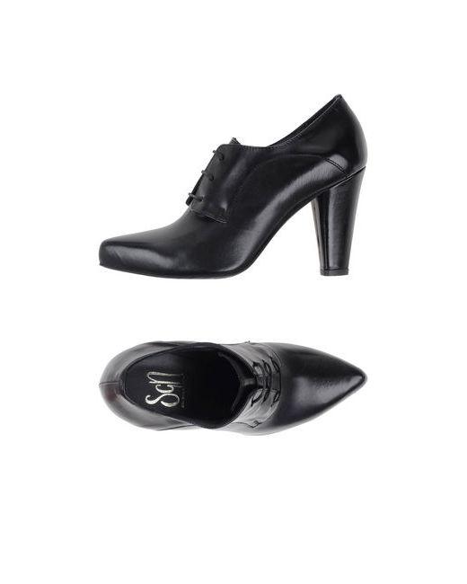Sgn Giancarlo Paoli | Мужская Чёрная Обувь На Шнурках