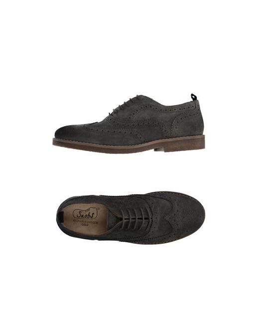 Snobs | Мужская Серая Обувь На Шнурках