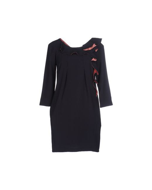 ATOS LOMBARDINI | Женское Синее Короткое Платье