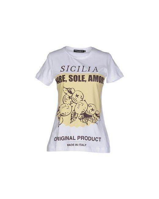 Dolce & Gabbana | Женская Белая Футболка