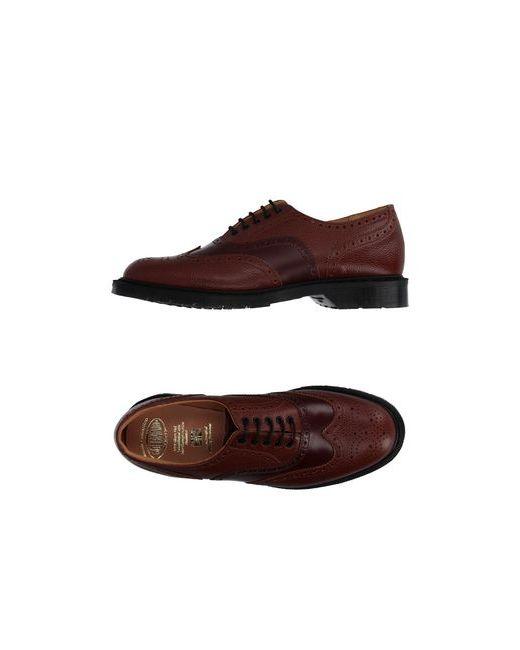 Solovair 1881   Мужская Красная Обувь На Шнурках