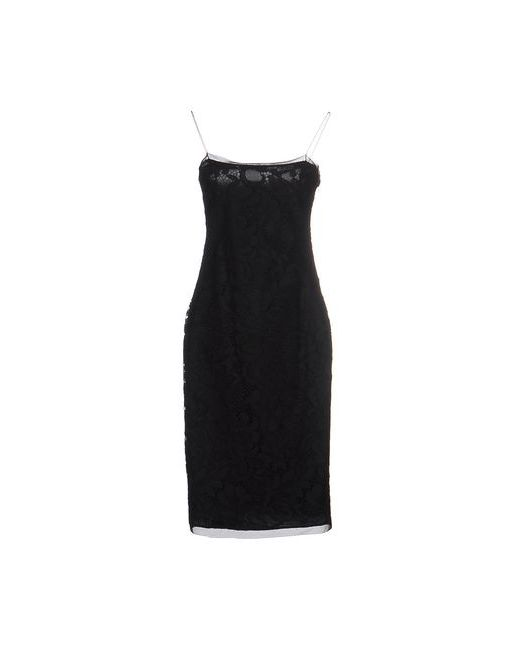Pinko Black | Женское Чёрное Платье До Колена