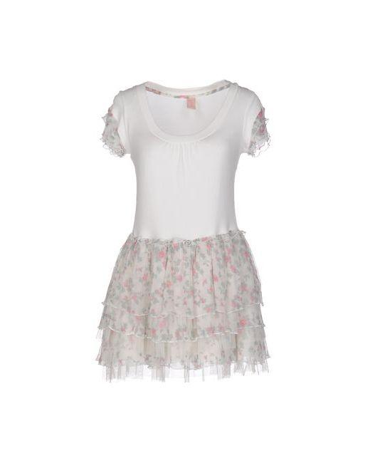 Miss Borsalino | Женское Белое Короткое Платье