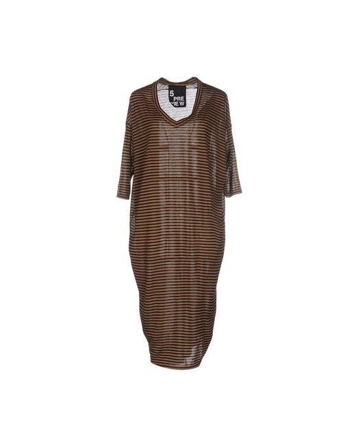 5Preview | Женское Хаки Платье До Колена