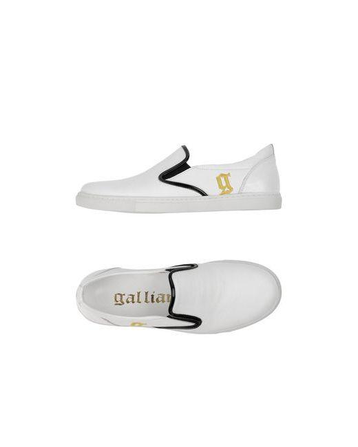 Galliano | Мужские Белые Низкие Кеды И Кроссовки