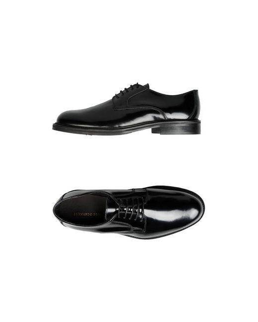 Leonardo Principi | Мужская Чёрная Обувь На Шнурках