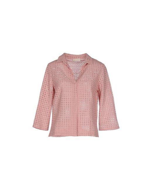 Club Voltaire   Мужская Розовая Pубашка