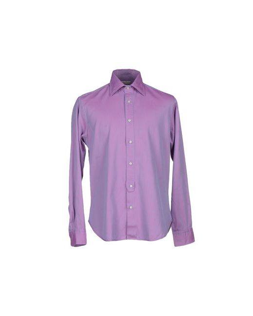 Brian Dales   Мужская Фиолетовая Pубашка